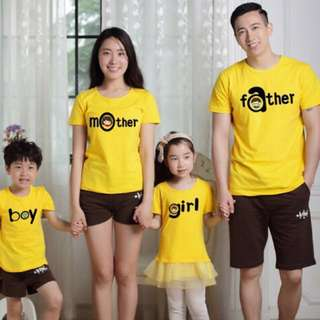 Family Matching Outfits Summer Family Look Matching Clothes Mother Daughter Short Sleeve Dress