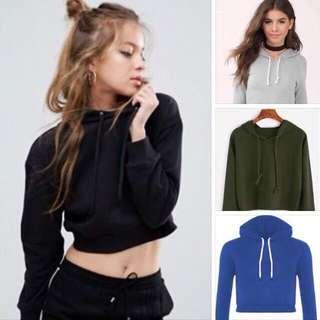 plain hoodie crop top