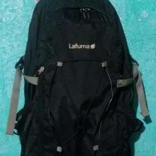 For Sale  Lafuma Hiking Bag Around 25-30 Liters Good Condition Slight Issue Only On The 2nd Zipper Comes With Almost New Raincover Price Is Firm.   Free  Na Yung Patagonio Sling Bag May Konting Issue Lng Sa Zipper Pero Usable Pm 09977897101 Tnx