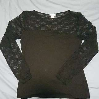 Laced Top Size L