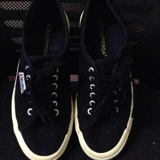 Authentic Superga Black Sneakers Shoes