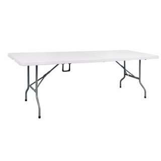 Primetime 6 Ft. Rectangular Fold in Half Multi purpose Folding Plastic Table Pure White Free Delivery in all NCR Area Cash on Delivery Nationwide