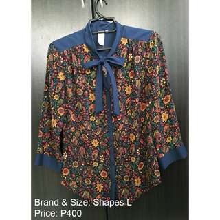 Formal 3/4 sleeve Top Blouse