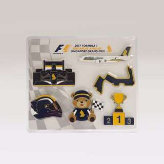 6-PIECE F1® MAGNET GIFT SET           Take home a collectible gift set consisting of six different race-themed magnets. Each magnet is uniquely designed for this exciting event. Designs include Race Car, Singapore Airlines bear and more.