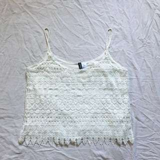 H&M laced CAMI TOP