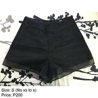 Black High-waist Shorts Sexy
