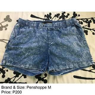 Penshoppe Medium Denim Shorts