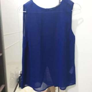 Navy string blouse
