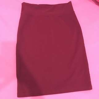 Red Wine Span Skirt