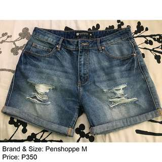 Penshoppe Tattered Denim Shorts