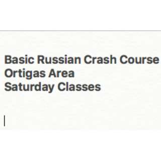 Basic Russian (1-day crash course)