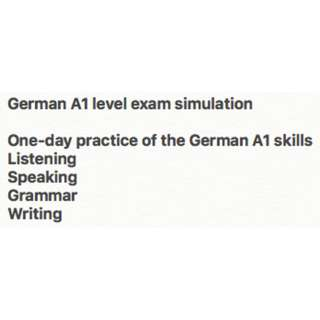 German A1 Level Exam Practice