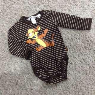 H&M Disney tigger Print Long Sleeve Baby Boy Romper