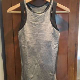 Lulu Lemon Grey Workout Top