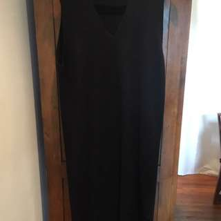 Oak + Fort Black Knit Dress