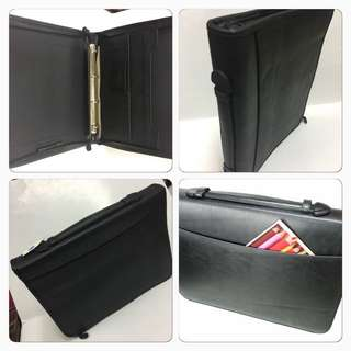 A4 Ring Zipper Portfolio (With Compartments)/A4 Zipper Folders/A4 Folders/Free Local Delivery after office hours