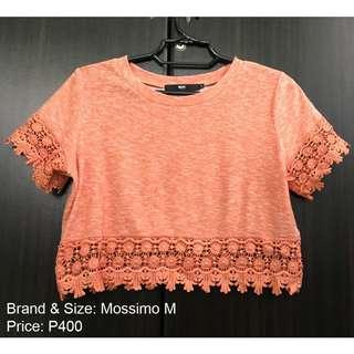 MOSSIMO Crop Top Cute Orange Floral