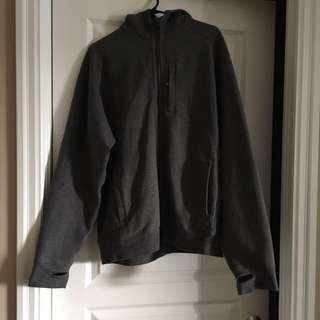 Men's Grey Lululemon zip-up hoodie
