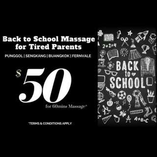 Back To School Massage for Tired Parents!