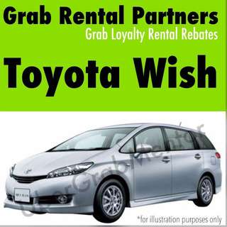 Offer toyota Wish for Grab rental