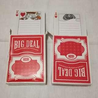 Playing Cards Memo pad