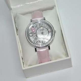 全新有盒 莎莎婦女銀袋日 限量版魅力粉紅色時尚腕錶 價值$339