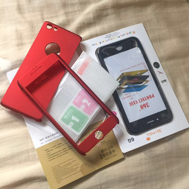 360* iPhone case w/ Free Tempered Glass & Wet/Dry Wipe