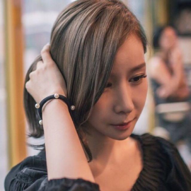 韓國無縫釘珠髮飾