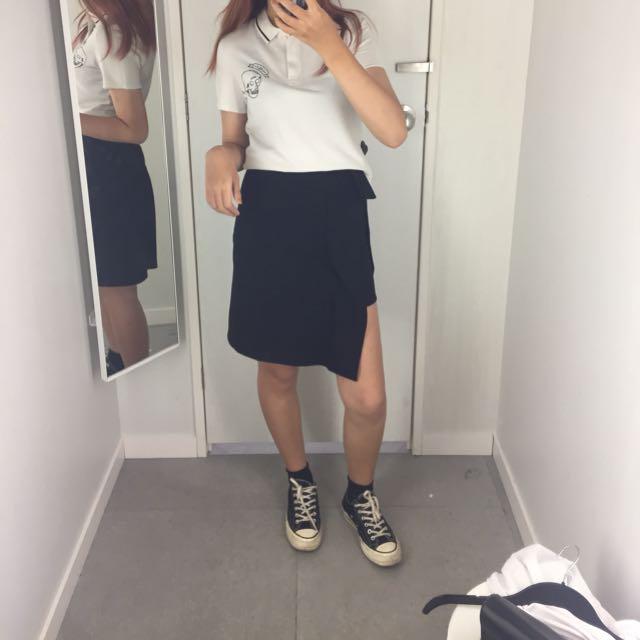 港風 開衩裙