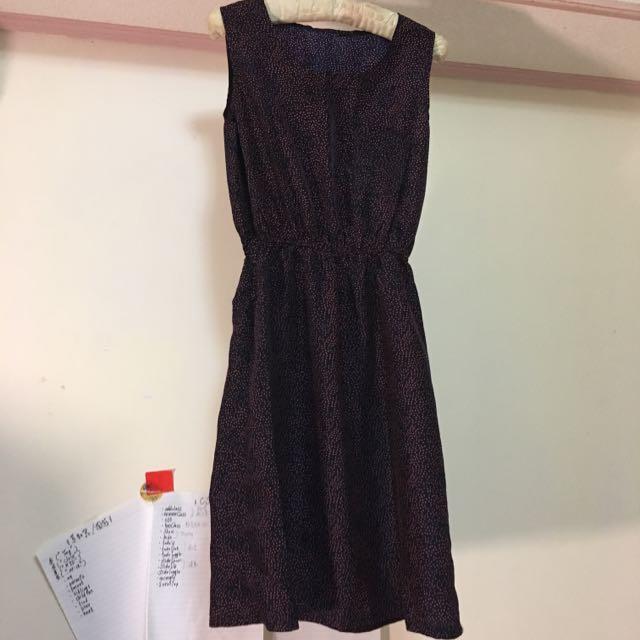 出售 Net韓系連身洋裝👗(暗紅) NTD.0/元(不含運費/北市面交)