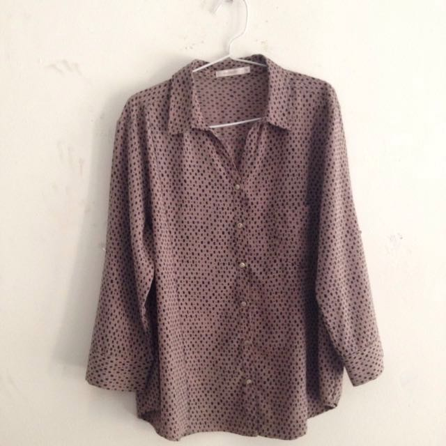 Accent Brown Blouse