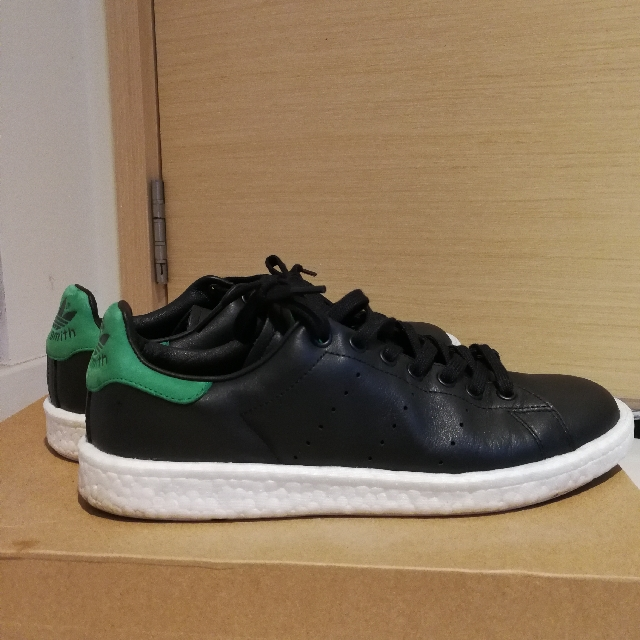 info for 730b2 9808f Adidas Stan Smith Boost Black Green