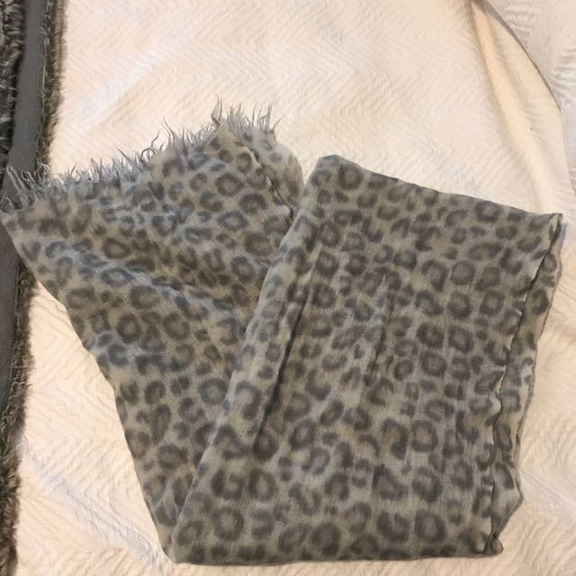 Aritzia Leopard Wool Scarf