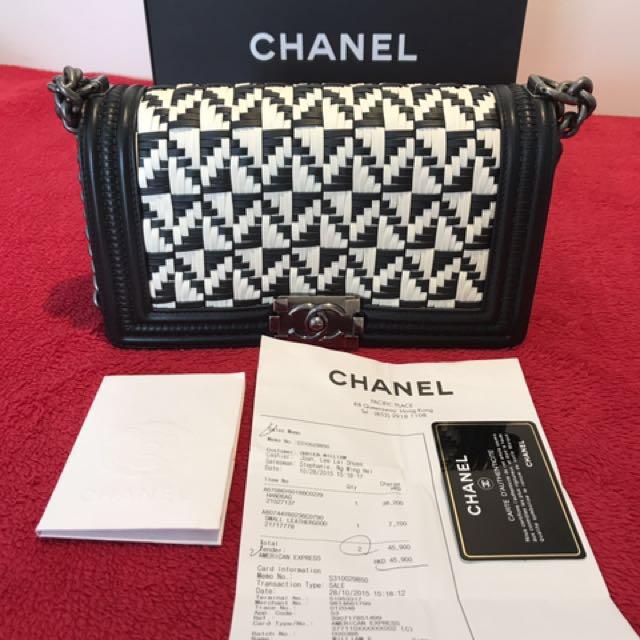 56108708366e Authentic Preloved Chanel Old Boy Medium Bristol Limited Edition ...