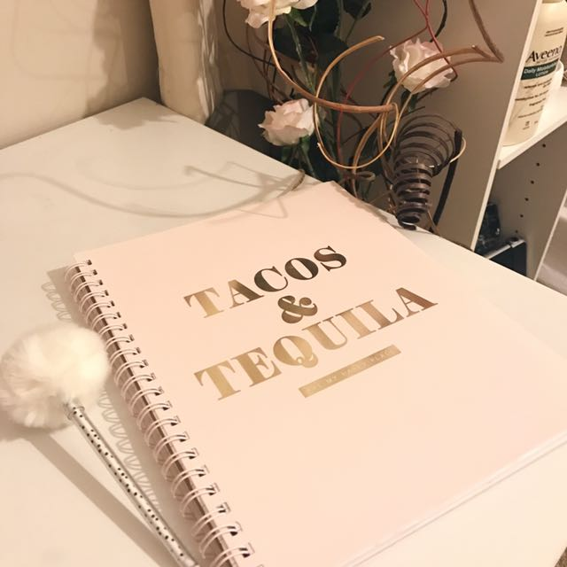 Babypink typo notebook and fluffy pen