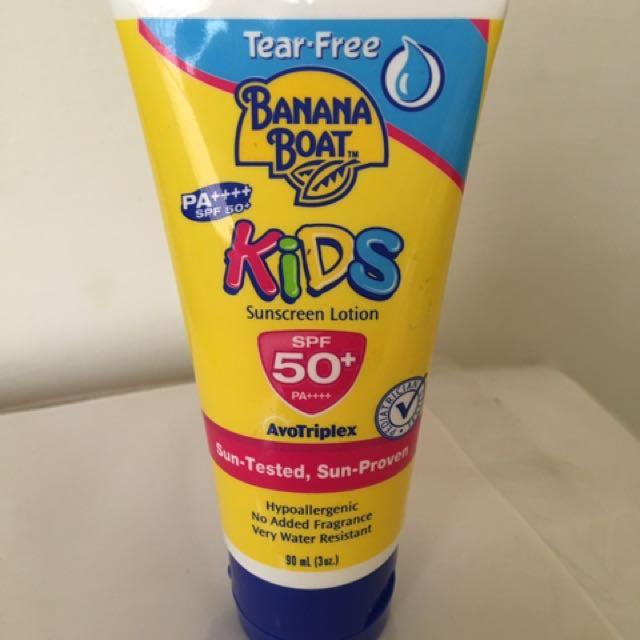 banana boat 香蕉船 防曬 兒童用