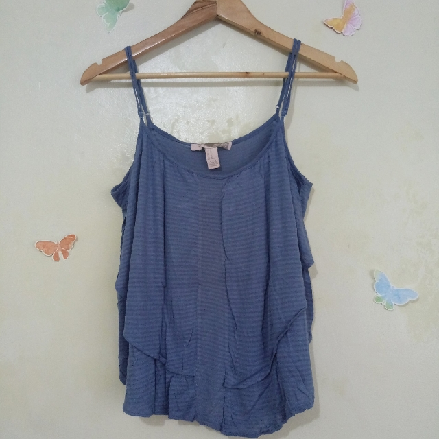 Blue Gray Forever 21 Layered Camisole