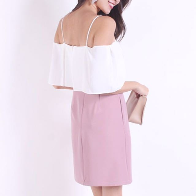4be0d16f1d782 BRAND NEW* NM COLEY OFF THE SHOULDER ONE-PIECE WORK DRESS IN BLUSH ...