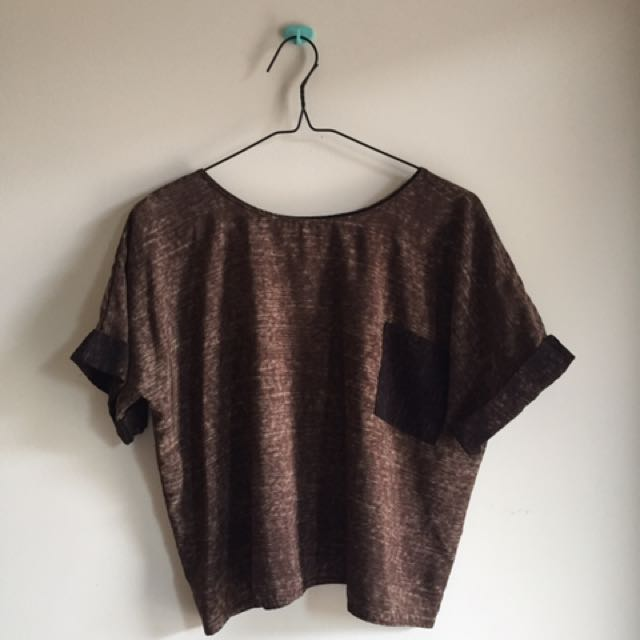 brown top by pinx