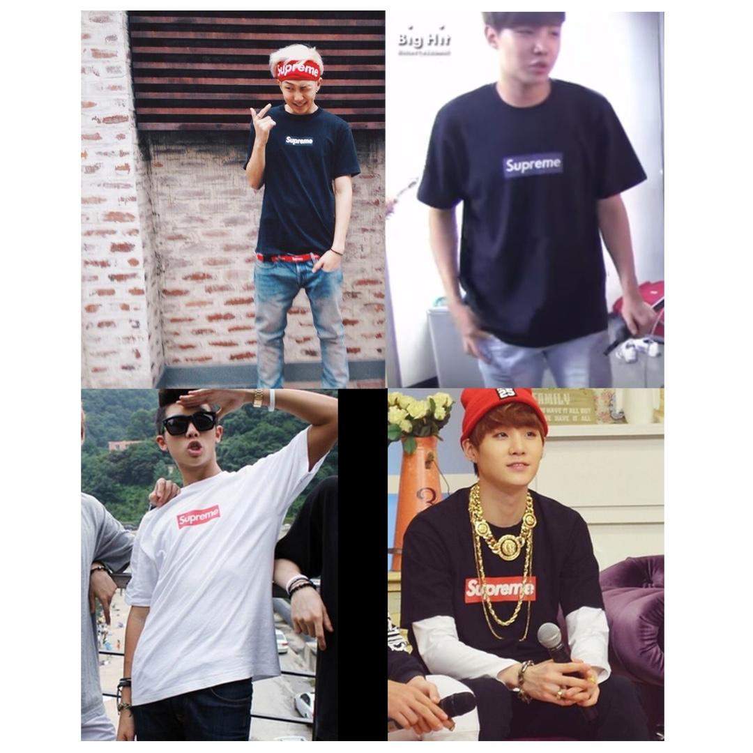 BTS RAPMON/JHOPE/SUGA] SUPREME CLASSIC LOGO BOX TEE, Men's Fashion