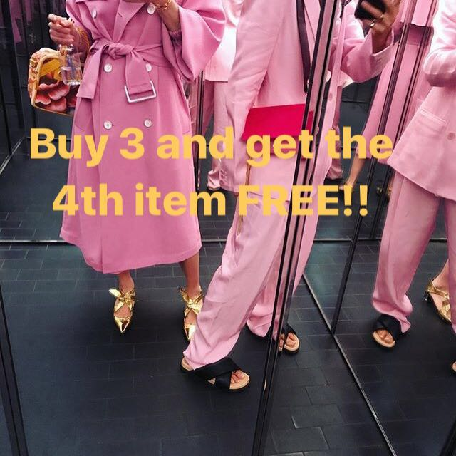 BUY 3 AND GET the 4th item FREE!!!