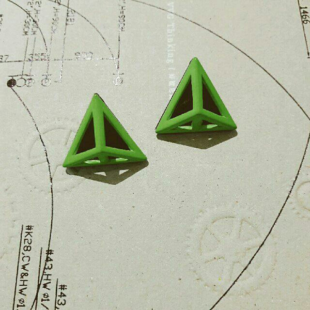 CAGE】三角立體耳環