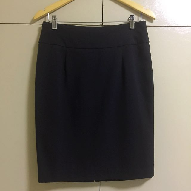 CALYPSO Black Pencil Skirt