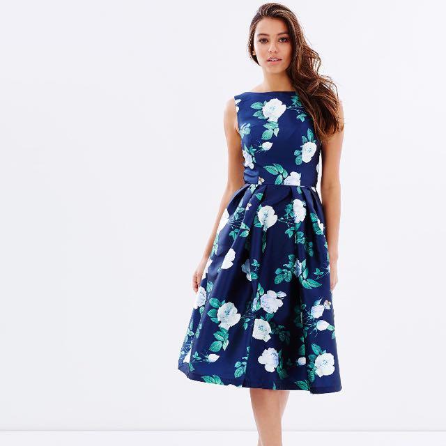 Chi Chi London Bella Dress Navy