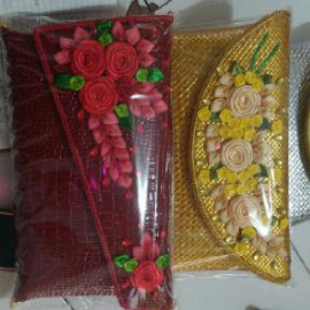Clutch Anyaman Bunga Handmade
