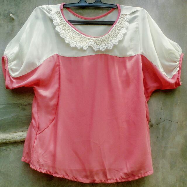 Collar Pink Top