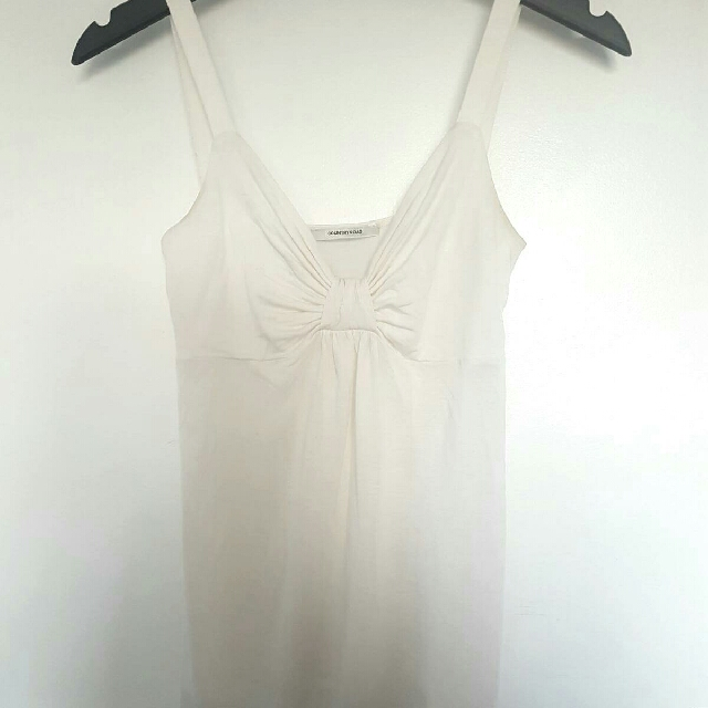 Country Road White Sleeveless Top