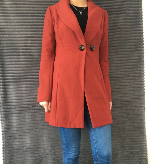 Dark Coral Coat Size S