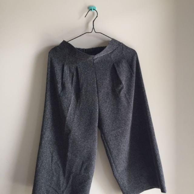 dark grey culotte