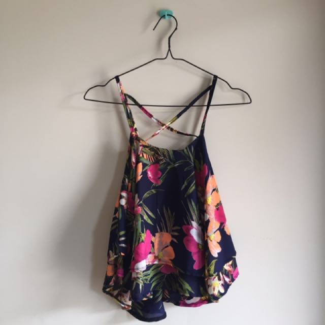 floral tank top by shopturday